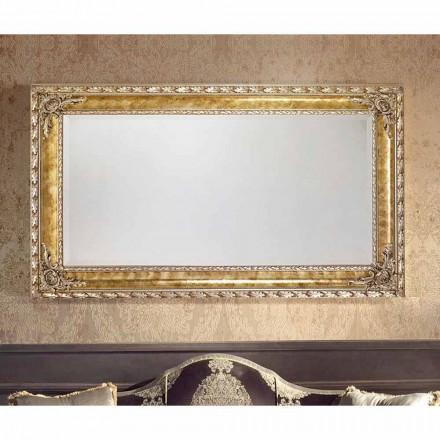 Rechteckiger Wandspiegel mit modernen Linien, made in Italy, Umberto