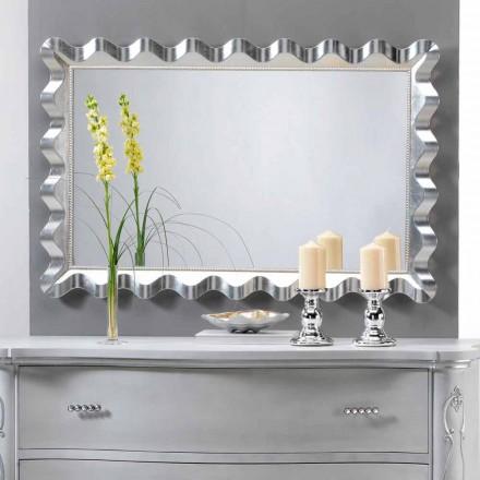Wandsoiegel im Glamour Look mit Perlen