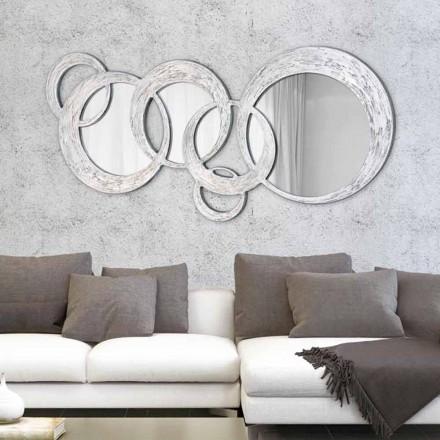 Wandspiegel in modernem Design Circles von Viadurini Decor