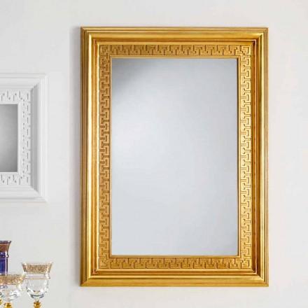 moderner Wandspiegel aus Blattgold 96x132 Viva