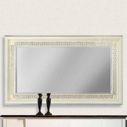 Wandspiegel aus Ayous-Holz, komplett in Italien hergestellt, Maicol