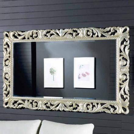 Moderner Design-Wandspiegel aus Ayous-Holz, made in Italy, Nicola