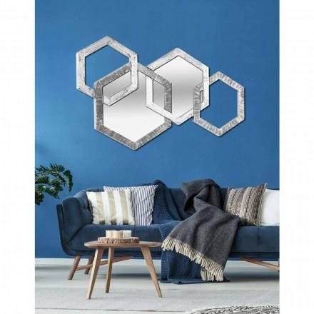Wandspiegel in sechseck Form mit modernem Design made in Italy Crigi