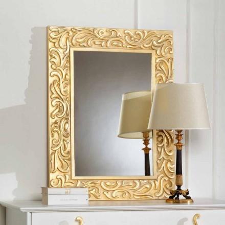 kleiner Standspiegel aus Blattgold gebeizt