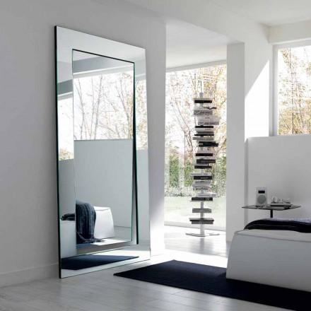 Rechteckiger moderner Entwurf Freistehender Spiegel Made in Italy - Salamina