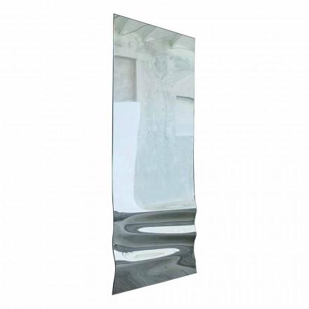 Großer Spiegel in gewelltem Kristall-Finish Made in Italy - Athena