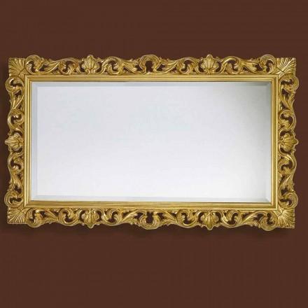 Moderner Spiegel aus Holz handgefertigt, komplett in Italien hergestellt, Nicol