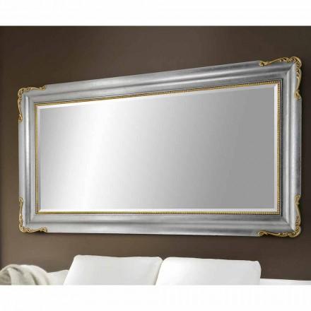 Wandspiegel handgefertigt aus Holz, komplett in Italien hergestellt, Cristian