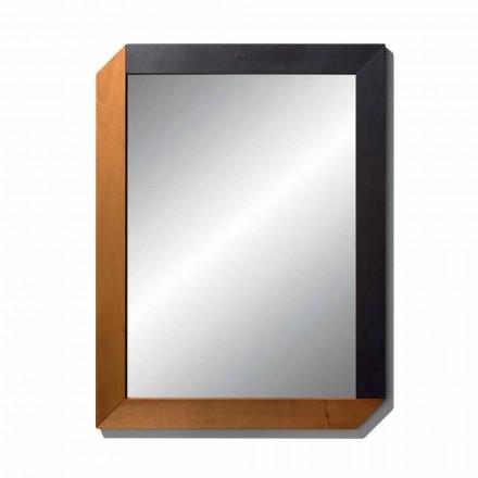 Rechteckiger Spiegel mit Holzrahmen von Made in Italy Design - Cira