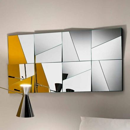 Modularer Wandspiegel mit konkaven und konvexen Spiegeln Made in Italy - Allegria