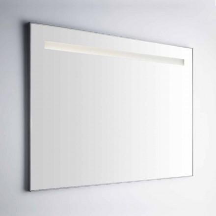 Wand Badezimmerspiegel mit Rahmen aus ähnlichem Aluminium Made in Italy - Tobi