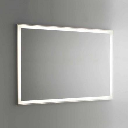 Badezimmerspiegel aus Aluminiumimitat mit Hintergrundbeleuchtung Made in Italy - Palau