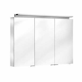 Moderner 3-türiger Wandspiegel mit Innenregalen - Bramo