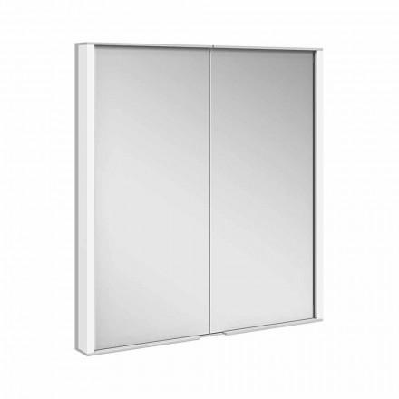Spiegelschrank aus silber lackiertem Aluminium, Modern - Demon