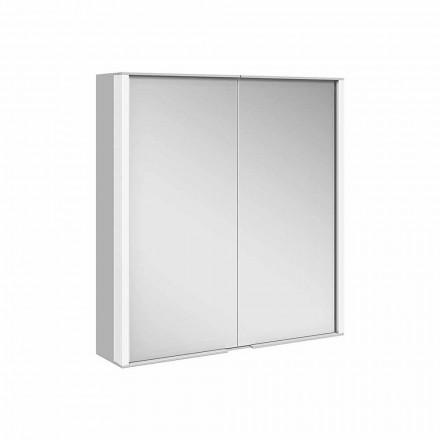 Wandspiegel aus Aluminium mit LED-Beleuchtung - Demon