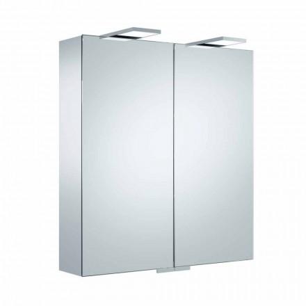 Luxus-Wandspiegel mit 2 Türen und LED-Beleuchtung - Ratsche
