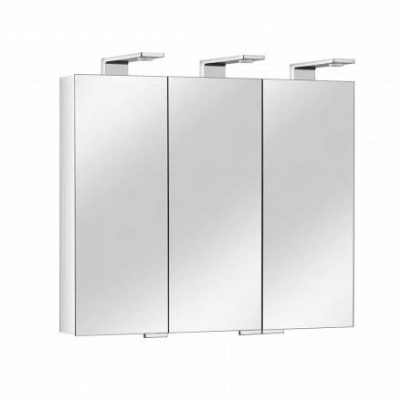 Spiegelbehälter mit 3 Kristalltüren und 3 LED-Lichtern, Precious - Maxi