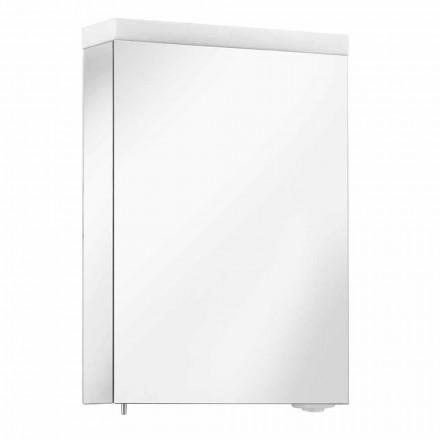 Spiegelbehälter mit Flügeltür und LED-Beleuchtung, hohe Qualität - Alfio