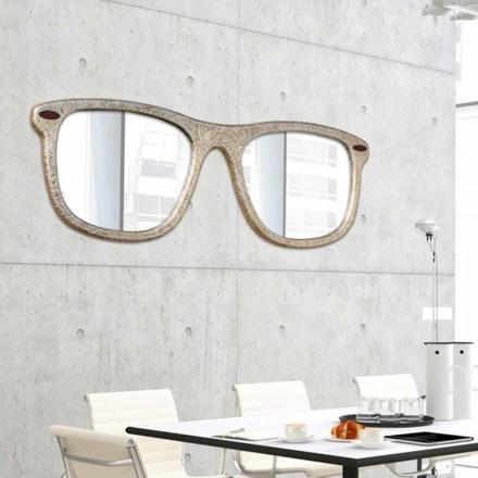 Wandspiegel in Brillenform handgefertigt Glass