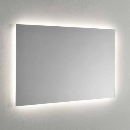 Wandspiegel mit LED-Hintergrundbeleuchtung auf 4 Seiten Made in Italy - Romio
