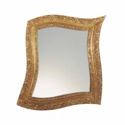 Barock Wandspiegel aus Eisen in gold- oder silberfarbe Made in Italy - Rudi