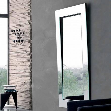 Rechteckiger Wandspiegel mit geneigtem Rahmen Made in Italy - Salamina