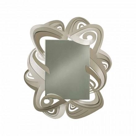 Moderner rechteckiger Wandspiegel aus Eisen Made in Italy - Penny