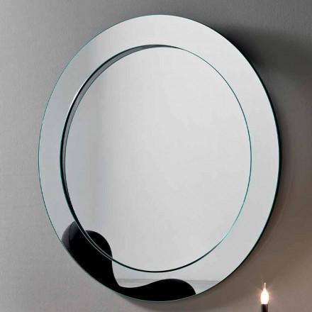 Runder Wandspiegel mit geneigtem Rahmen Made in Italy - Salamina