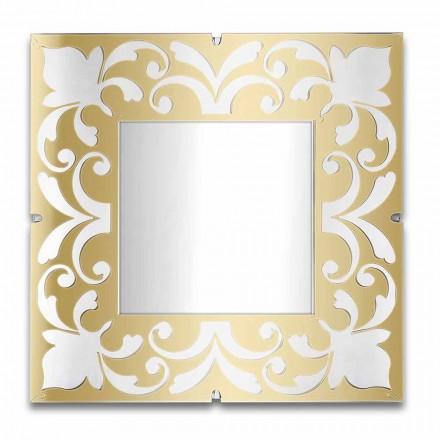 Quadratischer Spiegelrahmen in Plexiglas Gold, Bronze, Silber Design - Foscolo