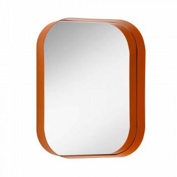 Abgerundeter rechteckiger Spiegel mit Metallrahmen Verschiedene Farben - Alexandra