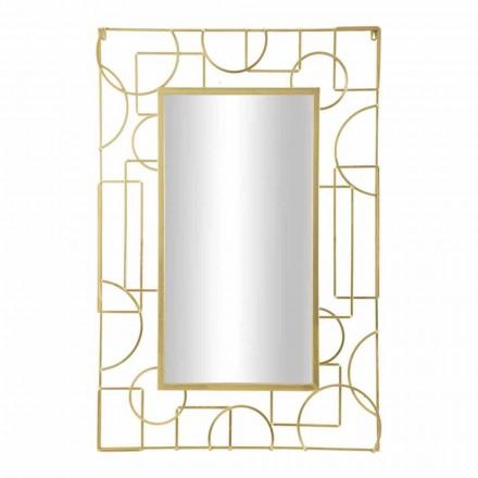Rechteckiger rechteckiger Eisenwandspiegel des modernen Designs - Plinio