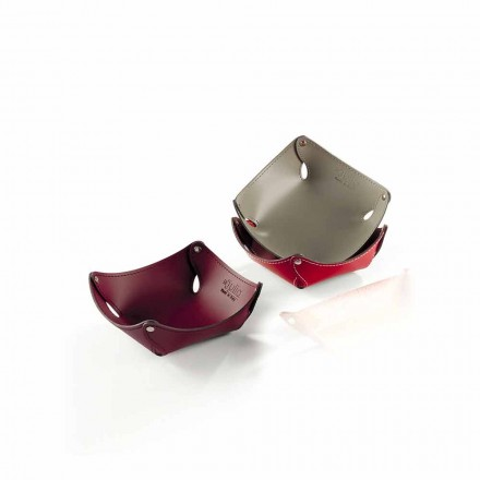 Leere Taschen aus Leder oder regeneriertem Leder - Modell Clay