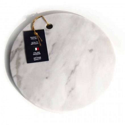 Rundes Design Weiß Carrara Marmor Schneidebrett Made in Italy - Mascha