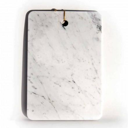 Made in Italy Design Schneidebrett aus Carrarra White Marble - Masha