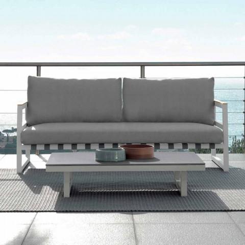 Talenti Alabama Gartensofa aus Aluminium in Design made in Italy
