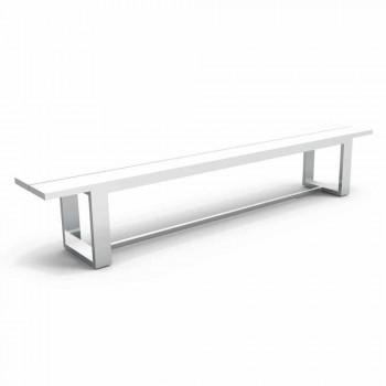 Talenti Essence weiß Aluminium Gartenbank in Italien hergestellt
