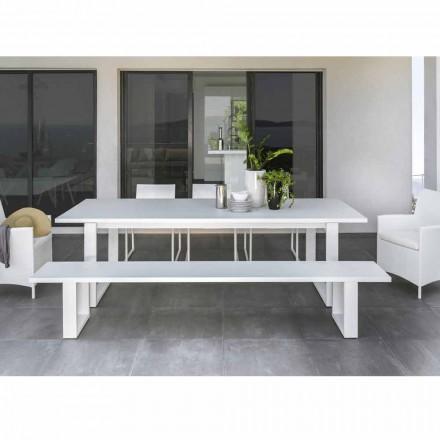 Talenti Essence Gartenbank aus weiß Aluminium made in italy