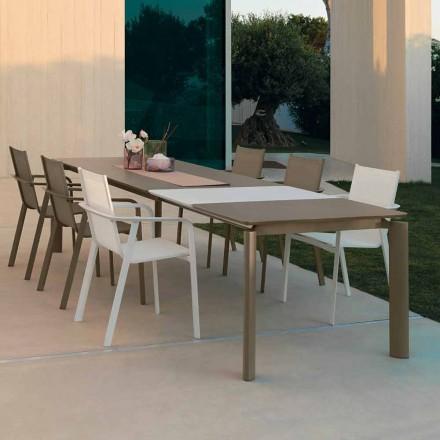 Talenti Milo ausziehbarer Esstisch im Freien, hergestellt in Italien