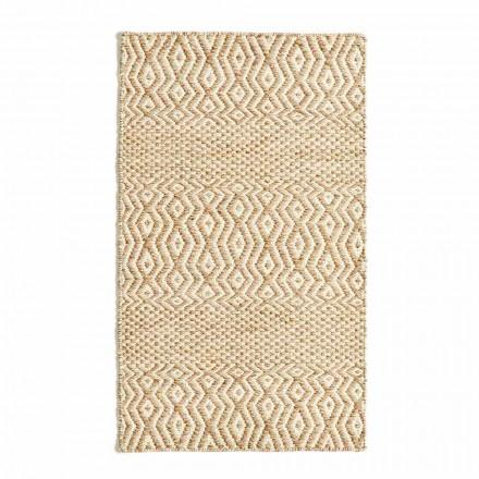 Modernes Design Wohnzimmer Teppich aus handgefertigter Wolle und Baumwolle - Minera