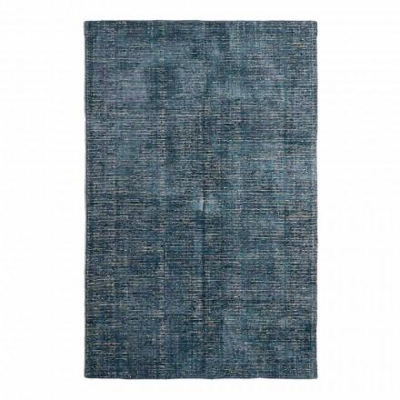 Wohnzimmerteppich aus Baumwolle, Viskose und Wolle Hergestellt auf Handwebstuhl - Melita