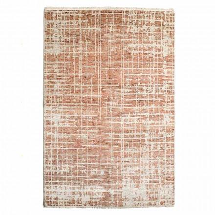 Moderner handgewebter Wohnzimmerteppich aus Wolle und Baumwolle - Neppo