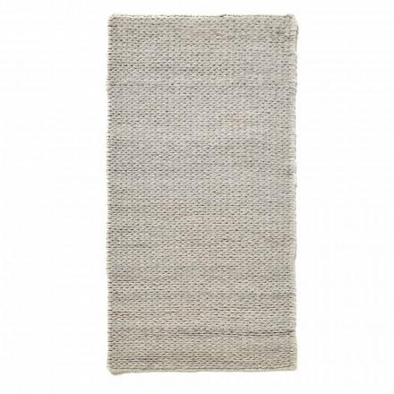 Moderner handgewebter Wohnzimmerteppich aus Polyester und Baumwolle - Tabatha