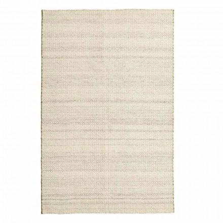 Handgewebter Wohnzimmerteppich in modernem Design aus Wolle und Baumwolle - Niet