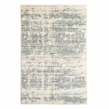 Handgewebter Design-Teppich aus Wolle und Baumwolle für Wohnzimmer - Kupfer