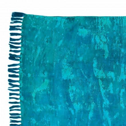 Ethnische farbige rechteckige Stoff Teppich mit Quasten - Fibraù