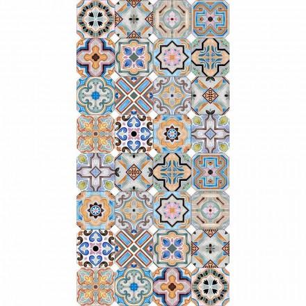 Moderner Teppich mit farbiger Majolika in Vinyl für Wohnzimmer - Calor