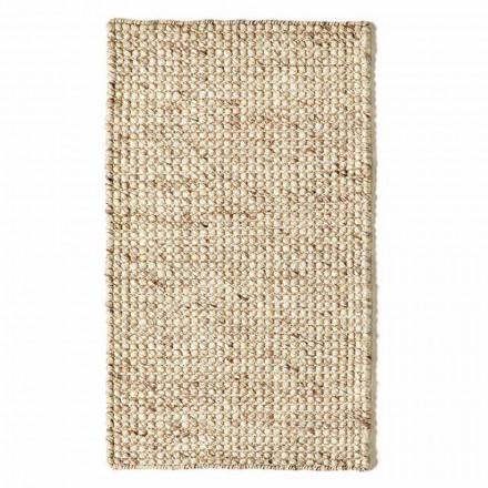Moderner handgewebter Wohnzimmerteppich aus Wolle und Baumwolle - Wrack