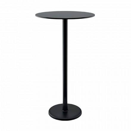 Hoher Tisch im Freien aus Gusseisen und HPL Made in Italy - Chester