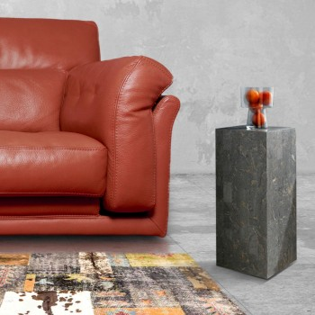 Hoher Couchtisch in Fossil Stone Grey Finish - Florida