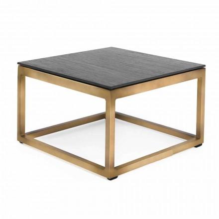 Square Design Outdoor Beistelltisch 2 Abmessungen 3 Oberflächen - Julie